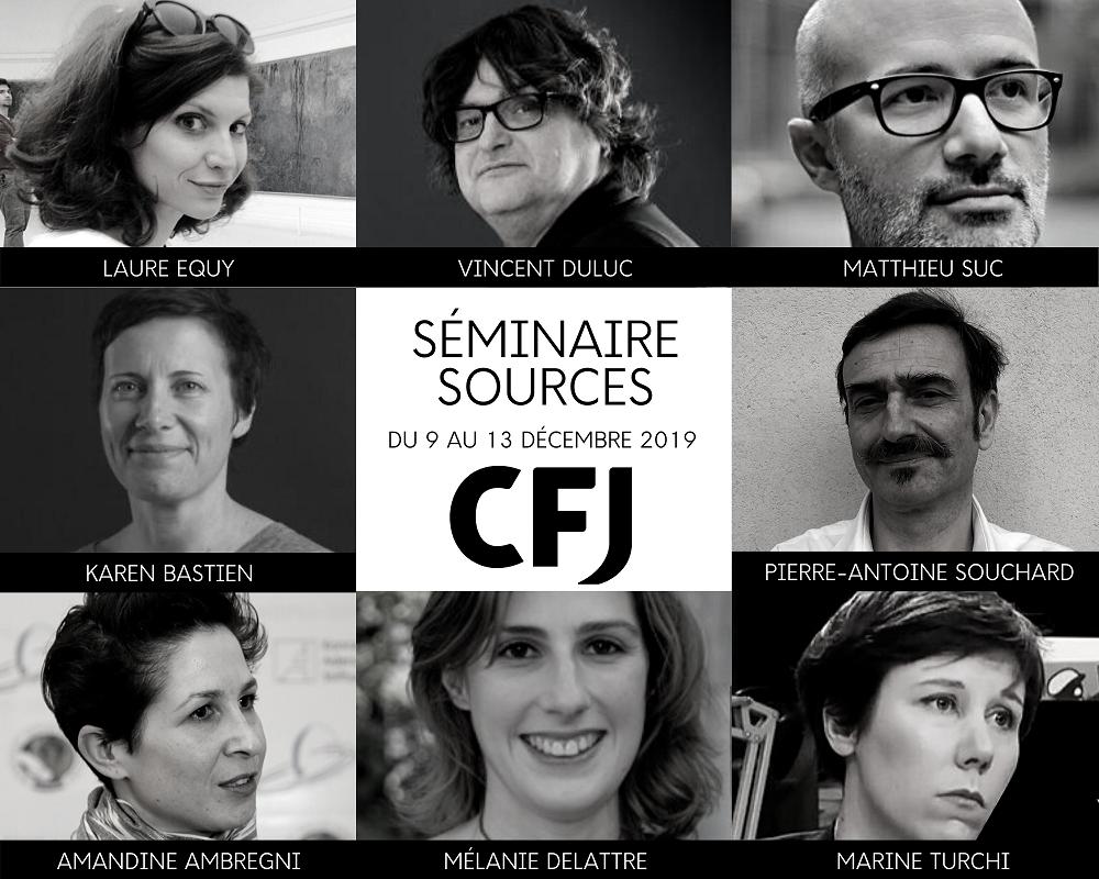 SÉMINAIRE SOURCES CFJ - 2019